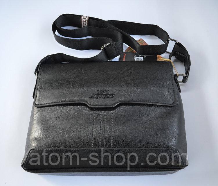 c692e42a86fe Кожаная деловая сумка XFB А4 через плечо портфель - A T O M в Харькове