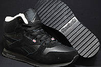 Кроссовки с мехом Reebok Classic Black унисекс
