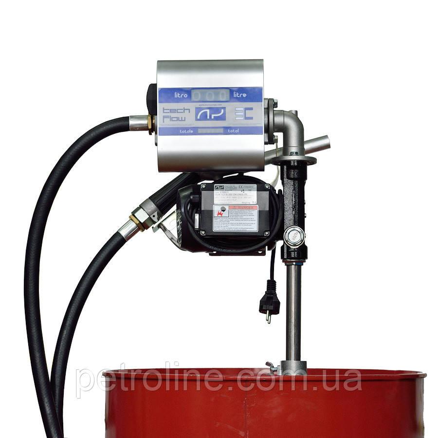 Насос со счетчиком для заправки дизельного топлива для бочки DRUM TECH, 220В, 70 л/мин
