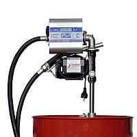 Насос со счетчиком для заправки дизельного топлива для бочки DRUM TECH, 220В, 70 л/мин, фото 1