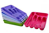 Лоток для столовых приборов 32,8х25,7 см h4,5 см пластик Мед