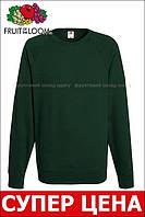 Мужской лёгкий реглан Тёмно-зелёный Fruit Of The Loom 62-138-38 XL