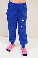 Спортивные трикотажные штаны с логотипом Найк, для мальчика