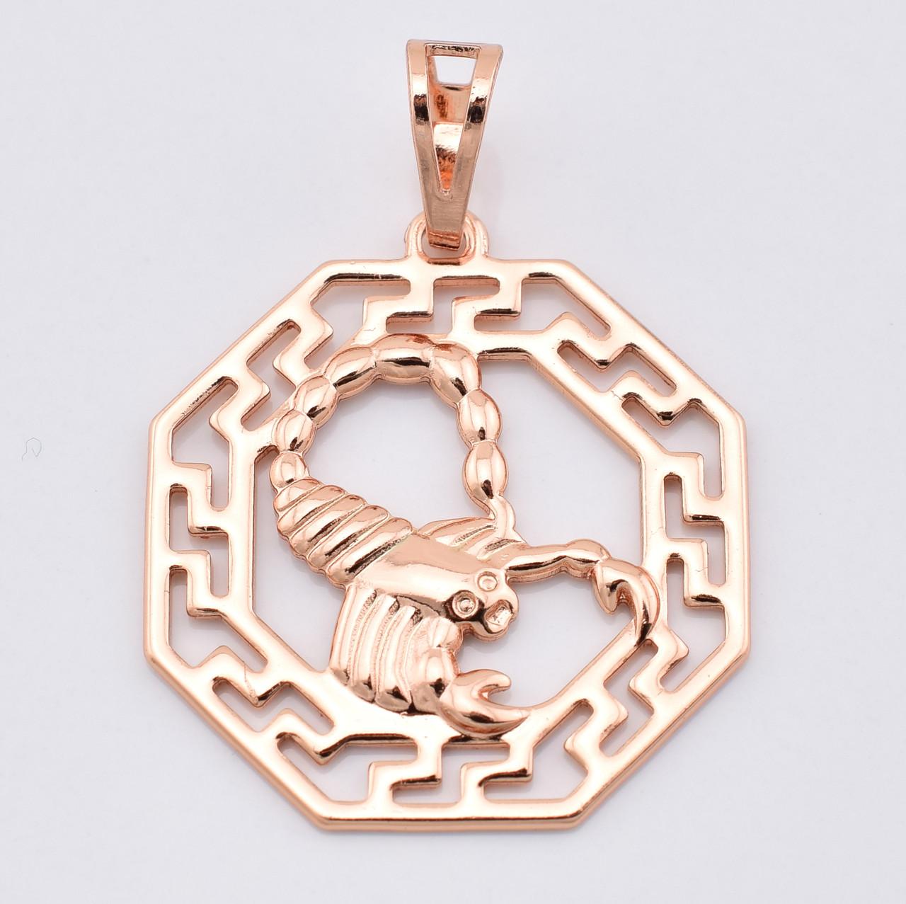 Знак зодиака 55469 Скорпион, размер 35*25 мм, позолота РО