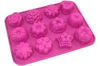 Форма для выпечки печенья прямоугольная 12 штук 21,5х16 см h2,5 см силикон Vincent