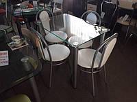 Недорогие обеденные столы из стекла.