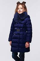 Синяя куртка для девочки биопух