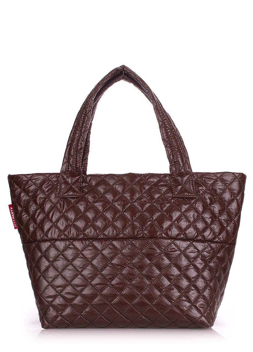 909ba57d890e Дутая женская сумка из ткани POOLPARTY - Интернет-магазин