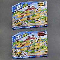 Автотрек 8866-2 (12) автобус на батарейке, свет фар, звук, 2 вида, в коробке
