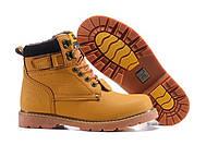 Ботинки зимние мужские Caterpillar Second Shift Boots Yellow (катерпиллер) бежевые