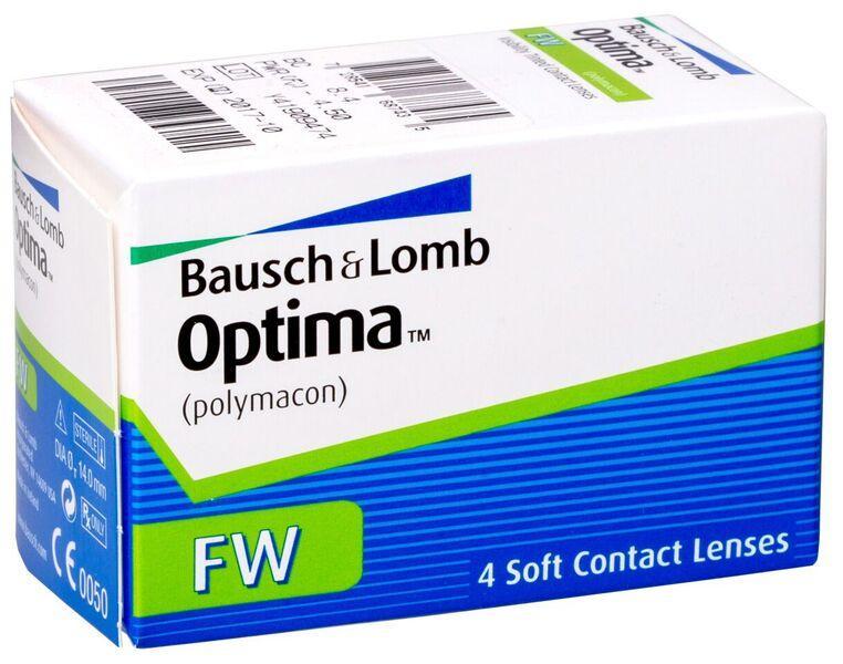 Контактные линзы Optima FW на 3 месяца (квартальные), 4 шт, Bausch&Lomb