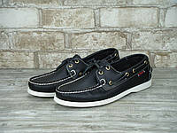 Мужские топсайдеры Sebago Docksiders Black White top sider