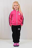 Спортивный трикотажный костюм с логотипом Адидас, для девочки