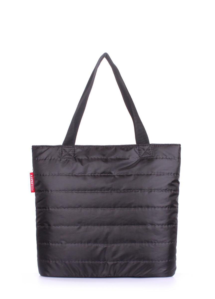 Женская дутая сумка из ткани
