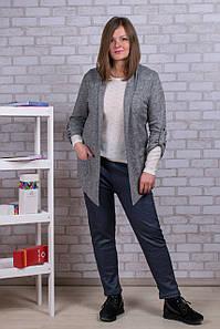 Женские штаны на меху Золото А922-1 6XL. Серые. Размер 54-58.