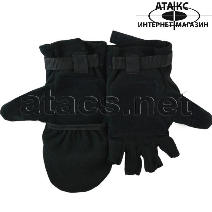 Варежки-перчатки, черные
