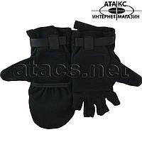 Варежки-перчатки, черные, фото 1