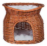 Trixie (Трикси) Плетеный домик для кота с лежаком на верху 54 × 43 × 37 см