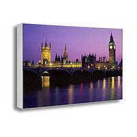 Картина на холсте с принтом Лондон ночной