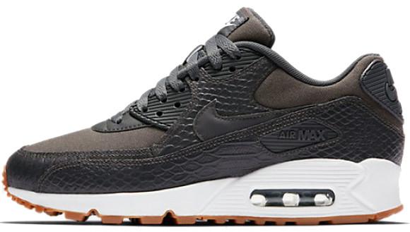 Женские кроссовки Nike WMNS Air Max 90 Premium Dark Grey, Найк Аир Макс 90
