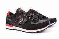 Туфли спорт мужские Konors нубук, натуральная кожа, цвет черный (платформа, комфорт, весна\осень, Украина)
