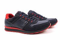 Туфли спорт мужские Konors нубук, натуральная кожа, цвет синий (платформа, комфорт, весна\осень, Украина)