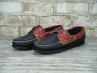 Мужские топсайдеры Sebago Docksiders Black Brown top sider