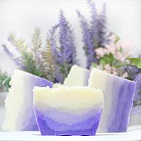 Натуральное лавандовое мыло  с нуля ручной работы «Лавандовое Поле» 100 г