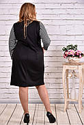 Женское прямое платье рукав 3/4 0607 цвет черный / размер 42-74 / батальное, фото 4