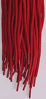 Шнурки круглые темно красные 100см синтетика
