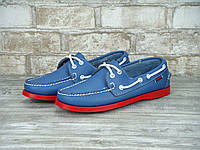 Мужские топсайдеры Sebago Docksiders Blue Red top sider
