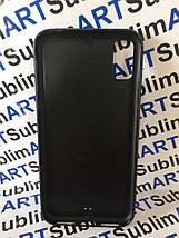 Чехол для 2D сублимации резиновый (TPU) Iphone X черный, фото 3