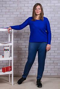 Женские штаны на меху Золото А922-2 6XL. Синие. Размер 54-58.