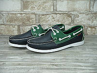 Мужские топсайдеры Sebago Docksiders Navy Blue Green top sider