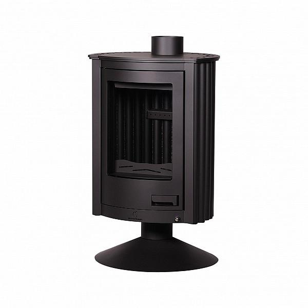 Отопительная печь-камин длительного горения Masterflamme Piccolo II (черный)