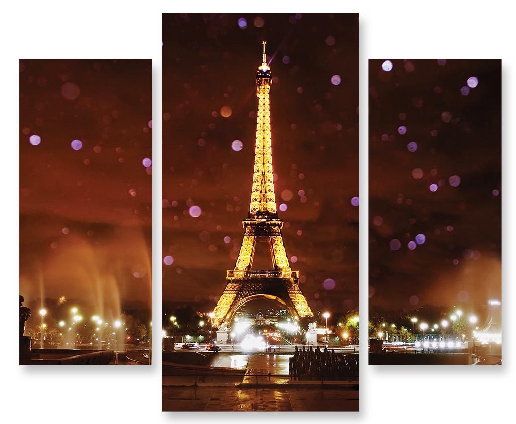 Модульная картина Эйфелева Башня ночью