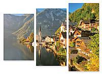 Модульная картина поселок в горах