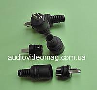 Штекер для аудио колонок (точка-тире) винтовое крепление, без пайки