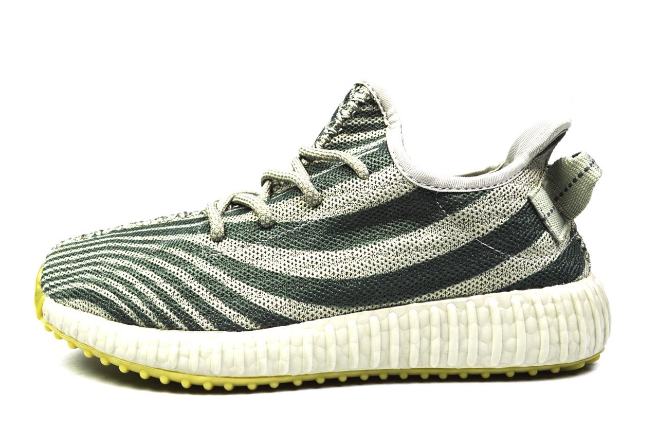super popular f1f9e 9832c Крутые серые мужские кроссовки будущего Adidas Yeezy Boost 550 Grey Zebra  (модные новинки лето)