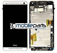 Оригинальный  Дисплей (Модуль) + Сенсор (Тачскрин) для  HTC One M7 Dual   802w (С рамкой) (Серый)