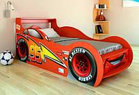 Кровать детская Молния Маквин Луч 80х160 красный