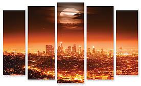 Модульна картина світиться місто