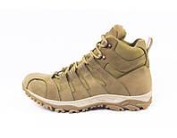 Ботинки полевые с утеплителем кайот. Модель 17