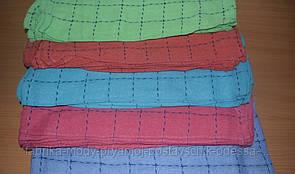 Салфетка махровая однотонная  в клетку 0,30 x 0,50