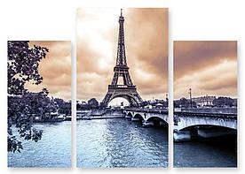 Модульна картина Ейфелева Вежа і річка