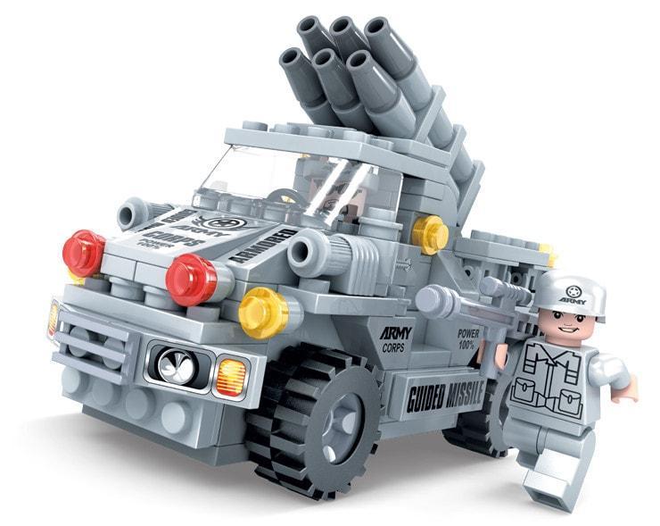 Конструктор Ausini Военная машина, 197 дет.