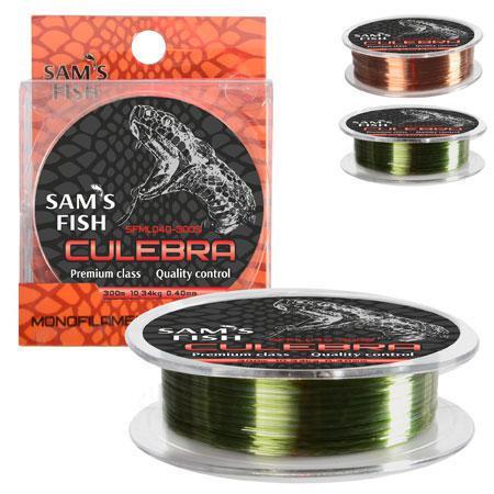 """Волосінь 300м SAMS FISH """"CULEBRA"""" 0,40 мм"""