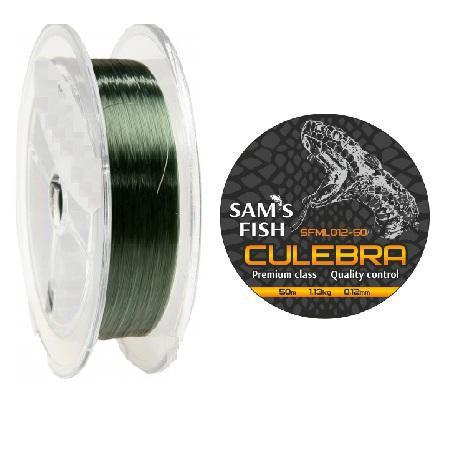"""Волосінь 50м SAMS FISH """"CULEBRA"""""""" 0,12 мм"""