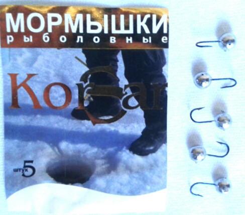 """Мормышка """"KORSAR"""" дробинка малая 5 штук"""