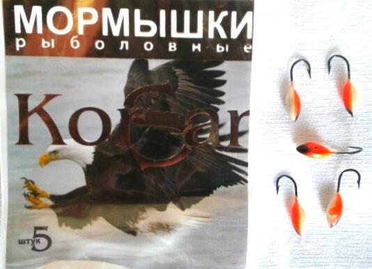 """Мормишка """"KORSAR"""" вівсянка фарбована 5 штук"""